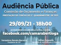 Audiência Pública Orçamento e Finanças