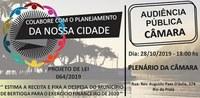 Audiência Pública Orçamento 2020   28/10