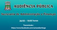 Audiência Pública Orçamento - 26/05/2021