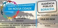 Audiência Pública Plano Diretor de Desenvolvimento Sustentável Boracéia   13/11
