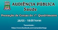 Audiência Pública Saúde - 28/05/2021