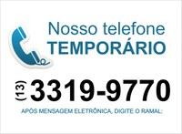 Telefone temporário da Câmara